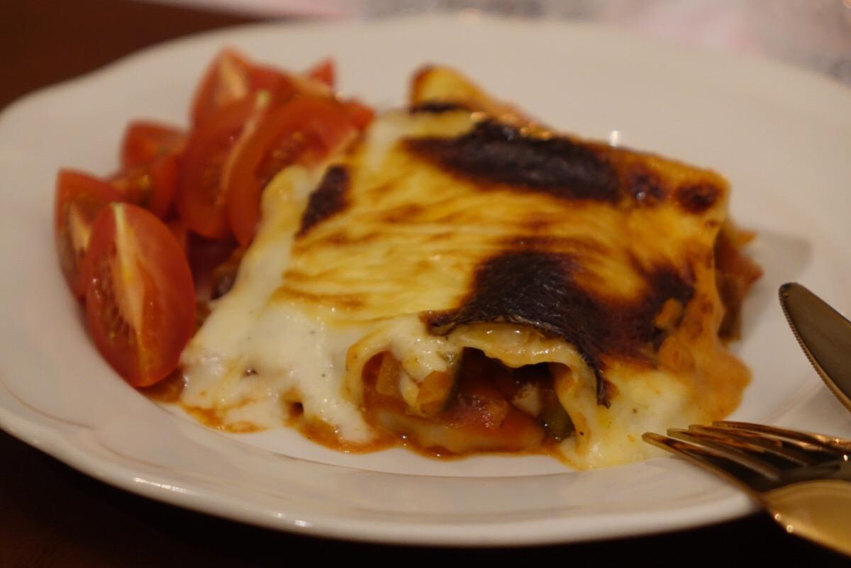 Vegetarisk lasagne med chevrè