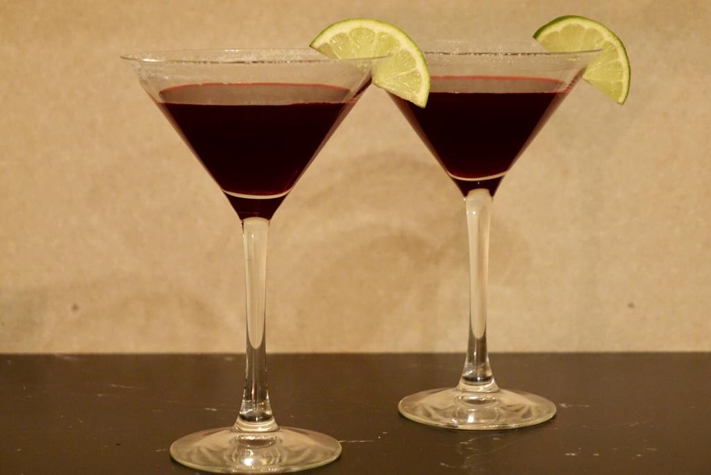 Margaritas med tre sorters bär