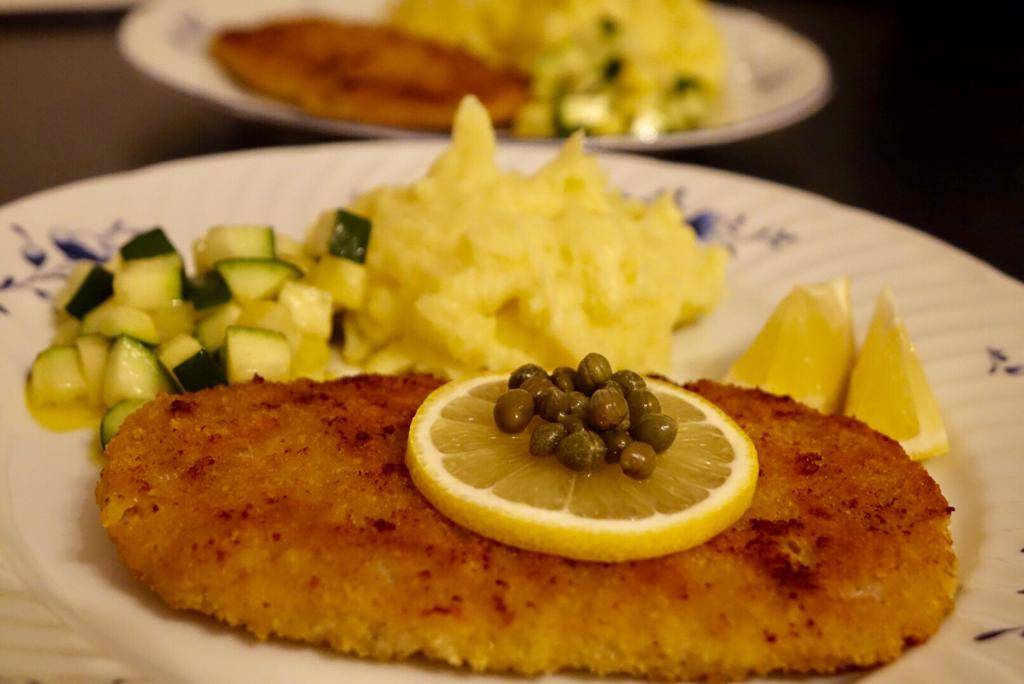 Schnitzel och potatismos