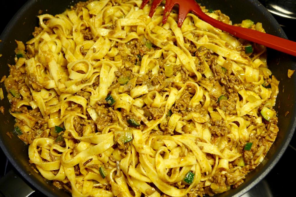 Färsk pasta med tacopastasås