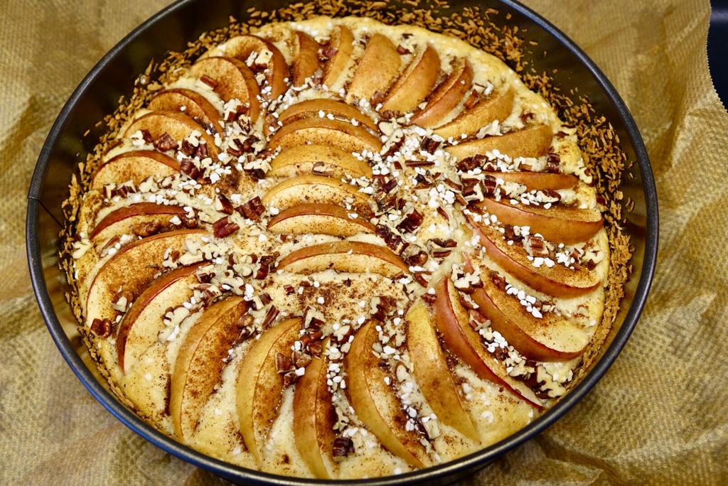 Äpplekladdkaka med mandelmassa