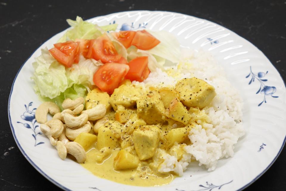 Gul currygryta med kyckling
