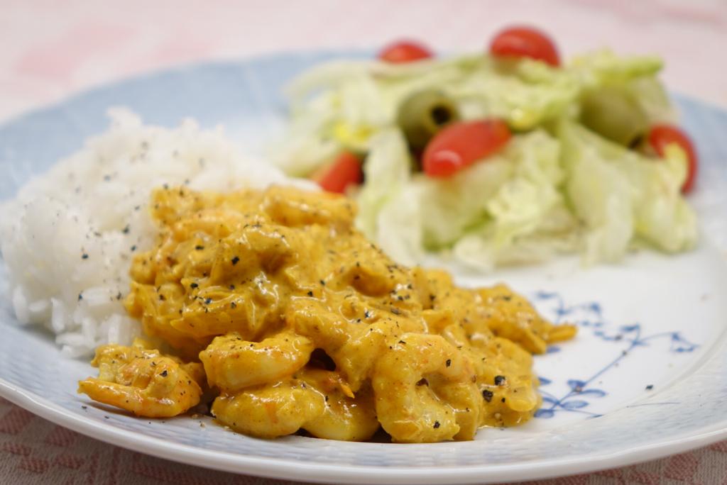 Räkstroganoff med curry