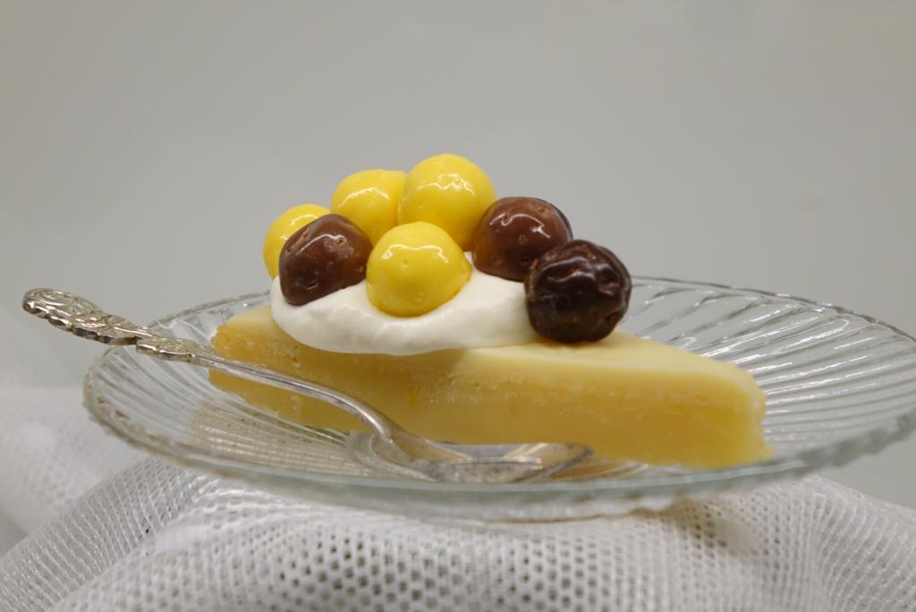 Citronkladdkaka med vitchokladganache