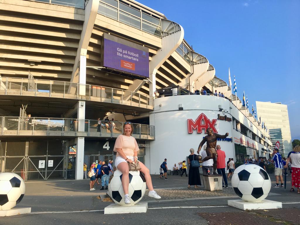 Fotbollsmatch på Gamla Ullevi