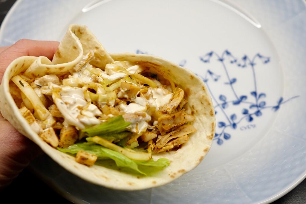 Tacokebab med grillad kyckling